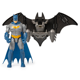 DC Batman | Batman 4-inch  Mega Gear Deluxe Action Figure