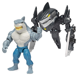 DC Batman | King Shark 4-inch Mega Gear Deluxe Action Figure