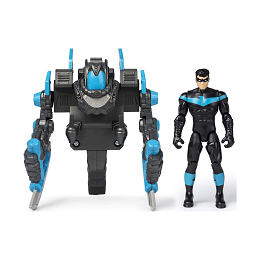 DC Batman | Nightwing 4-inch Mega Gear Deluxe Action Figure