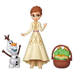 Disney Frozen | Anna and Olaf Small Dolls With Basket Accessory