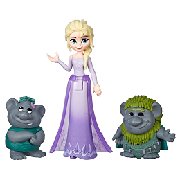 Disney Frozen | Elsa Small Doll with Troll Figures