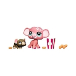 Littlest Pet Shop 2010 Assortment A Series 5 | Pink Elephant #1808 & Mouse #1809 | 2 Pack