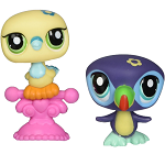 Littlest Pet Shop 2010 Assortment A Series 5 | Toucan Bird #1906 & Yellow Dove #1907| 2 Pack