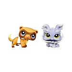 Littlest Pet Shop 2010 Assortment A Series 5 | Yorkie #1611 & Ferret #1612 | 2 Pack